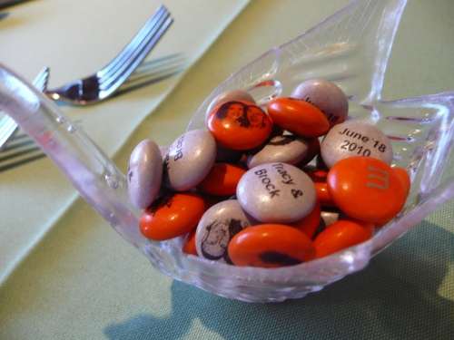 Wedding Favors for Guests - personalized M & M's