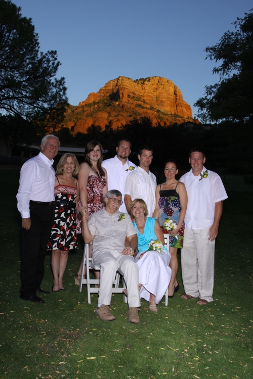 Chip and Joy accompanied by their lovely family and friends - Photo courtesy of Janise Witt