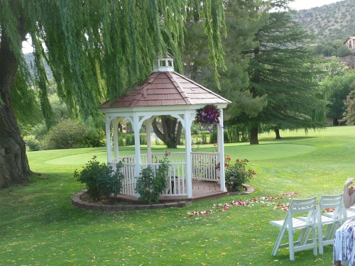 Ceremony at the Golf Course Gazebo