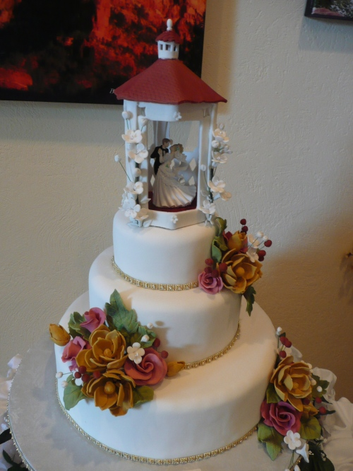 Donna Joy's amazing Wedding Cake, Poco Diablo Style