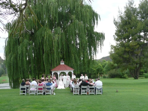 Lovely Setting of the Golf Course Gazebo