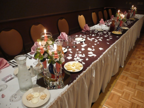 Bridal Table with Lovely Centerpieces