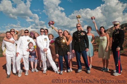 The Bridal Party on top of Cathedral Rock - Photo by Pamela Duffy Photo