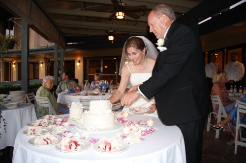 William and Cynthia Cutting the Cake - Photo courtesy of William Lackey
