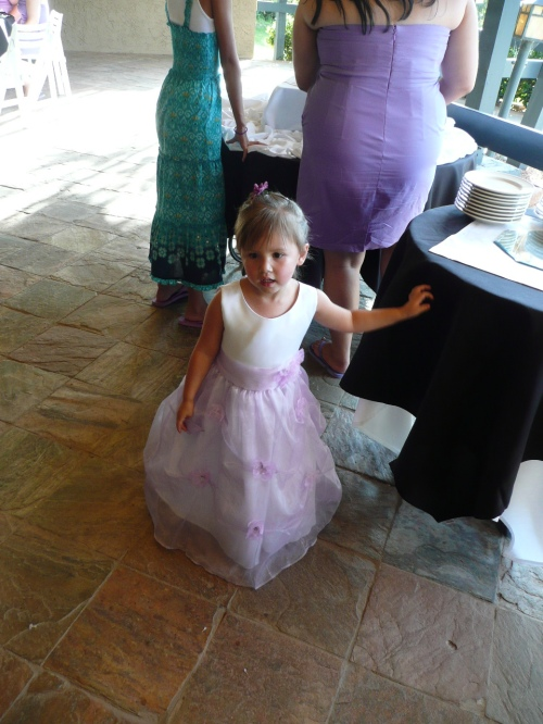 Their adorable flower girl.