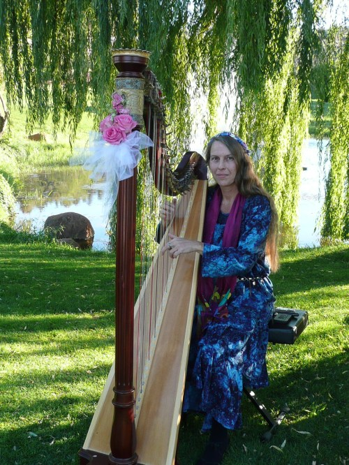 Harpist Lily Swan
