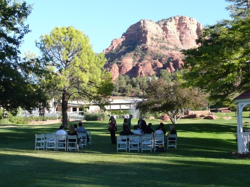 Shari and Keith's Golf Course wedding ceremony