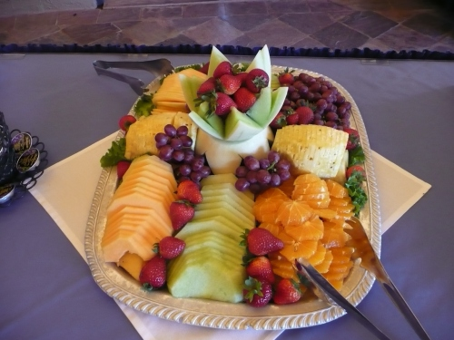 Delicious Fresh Fruit Display Offered at Wedding Brunch