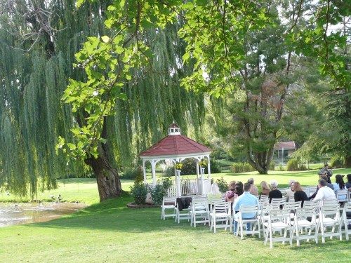Wedding Ceremony at the Golf Course Gazebo