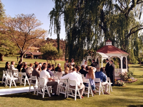 Intimate Wedding Ceremony at the Golf Course Gazebo Photographed by Janise Witt