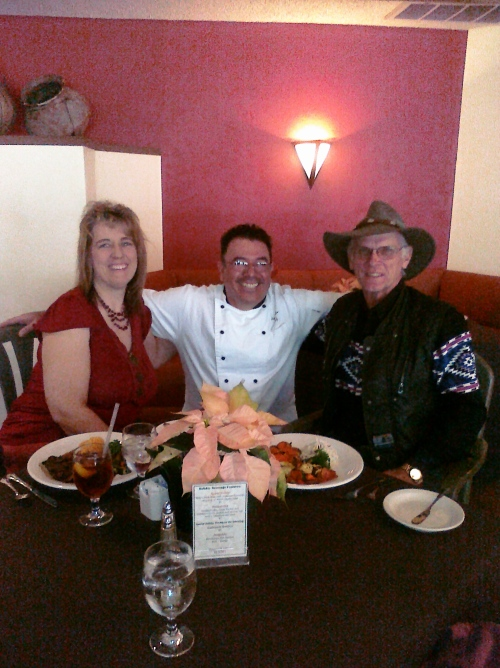 Nancy and Ron with Chef Felipe
