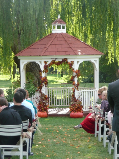 Fall colors added to the Gazebo by Marcy and Jake