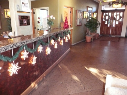 Holiday Lights Sparkle at the Front Desk at Poco Diablo Resort