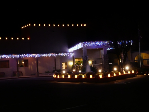 Holiday Lights at the Entrance to Poco Diablo Resort