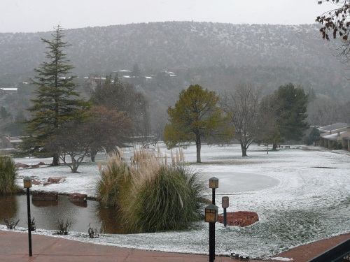 Snow Falling on the Poco Diablo Golf Course