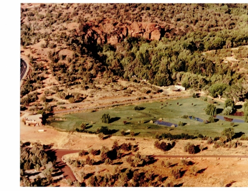 Vintage Photo of Doodlebug Ranch, the area where Poco Diablo was built.