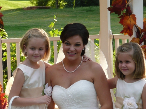 Marcy with her lovely flower girls