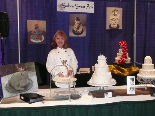 Donna Joy at the Sedona Sweet Arts Booth