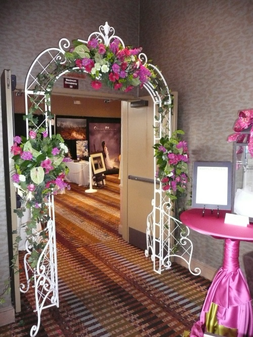 Floral Arch at Ballroom Entrance arranged by Bliss Extraordinary Floral