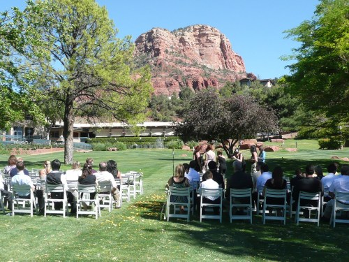 Ceremony Location with Red Rock Views