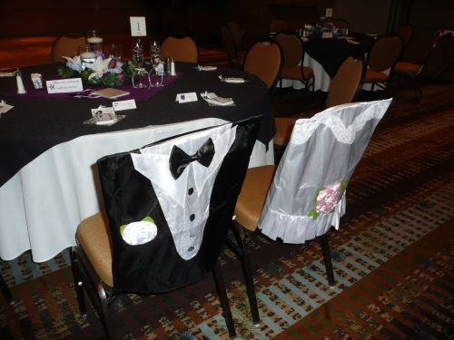 Special Chair Covers for the Bride and Groom