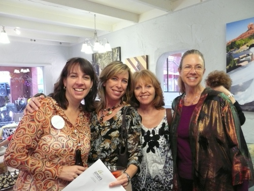 Left to Right: Krysta with Verve Events and Tents, April Bates with Amara Resort and Spa, Donna Joy Varney with Sedona Sweet Arts and Carol Golden with Sedona Elegant Events
