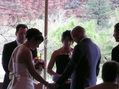 Wedding Ceremony on the Canopy Patio