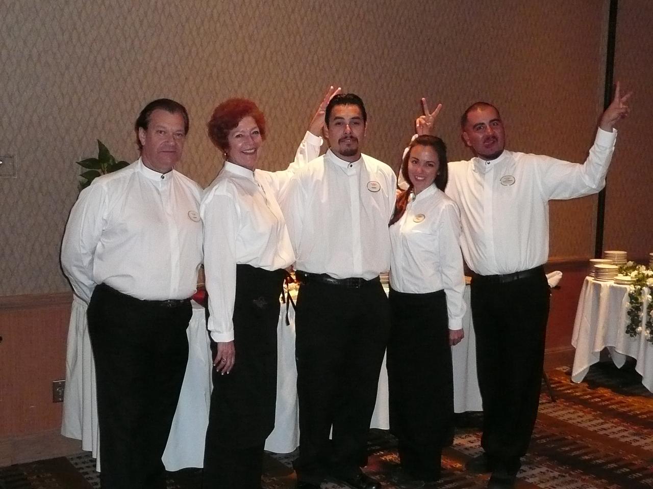 weddings at poco diablo resort sedona arizona poco diablo banquet staff having fun just before the reception