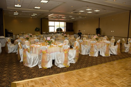 Dance Floor Included in Ballroom Receptions in our Wedding Packages
