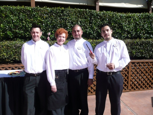 Poco Banquet Staff (left to right) RJ, Marylynne, Javier and Dario