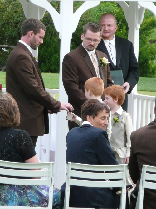 The Ring Bearers Hand Over the Wedding Bands