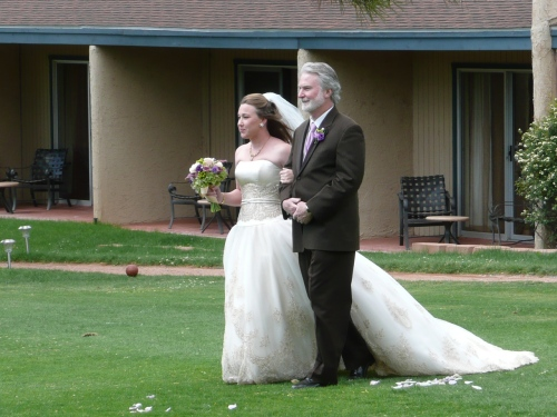 Treva's Father Steven Walks Her Down the Aisle