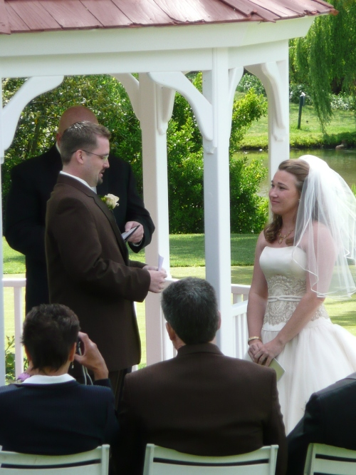 Intimate Wedding Ceremony at the Golf Course Gazebo