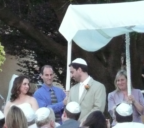 Rachel Circles Paul 3 Times Before Entering the Chuppah in the Seven Circle Ceremony