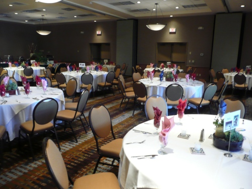 Poco Diablo Ballroom prepared for the Welcome Dinner