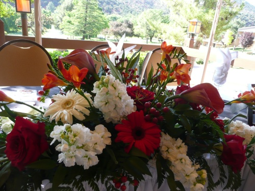Lovely Floral Arrangement by Bliss Extraordinary Floral for Head Table