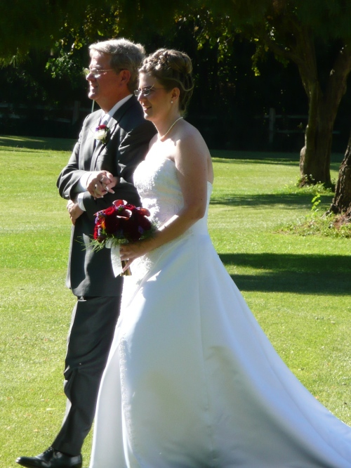 Joy Walking Down the Aisle with her Father