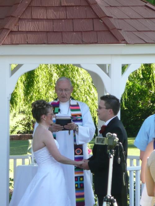 Joy and James Speaking Their Wedding Vows