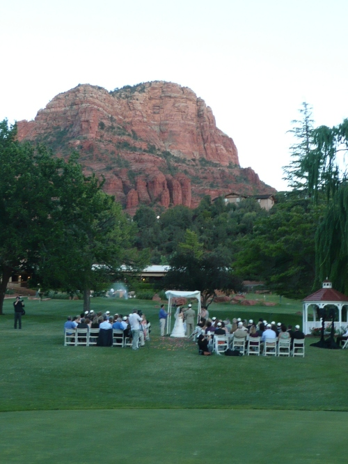 Lovely Ceremony Setting at Poco Diablo Resort