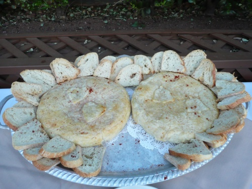 Appetizer - Wheel of Brie in Puff Pastry Served with French Bread
