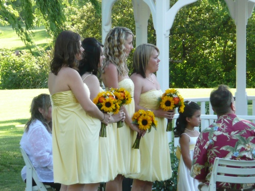 Yellow Sunflower Theme for the Bridal Party