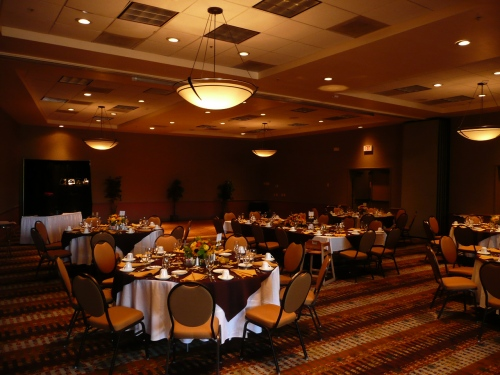 Poco Diablo Ballroom Prepared for the Wedding Reception