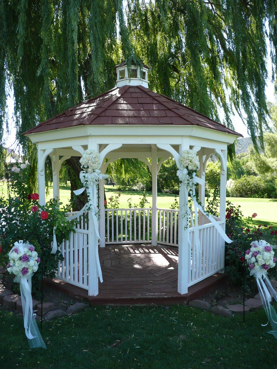 Outdoor Wedding Gazebo Decorating Ideas : Flowers for your wedding at poco diablo resort weddings