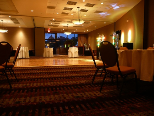 Poco Diablo Ballroom Set up for Wedding Reception - Sedona Sounds Music and Lighting