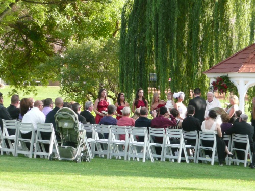 Intimate Wedding Ceremony on the Golf Course