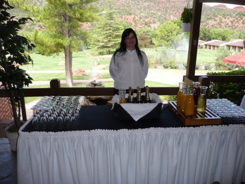Hollie at the Mimosa Bar