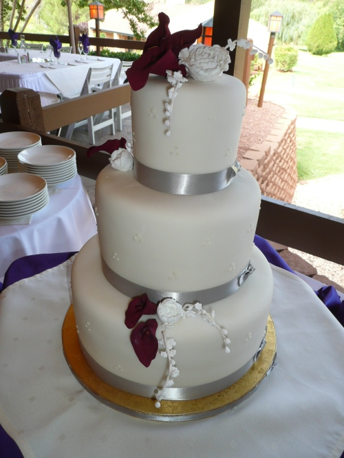 Sheena and Ryan's Wedding Cake