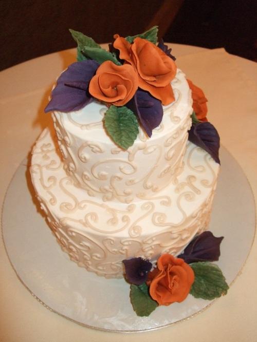 The Beautiful Butter Cream Wedding Cake