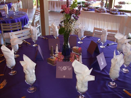 Lovely Table Decorations with Hand Made Place Cards