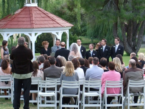 Wedding Ceremony at the Gazebo